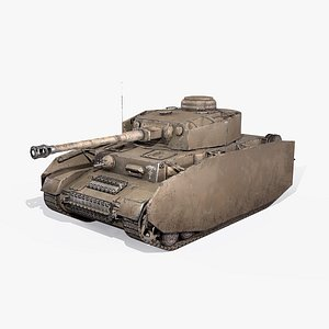 3D model iv war 2 tank armor