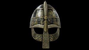 3D model viking helmet helm