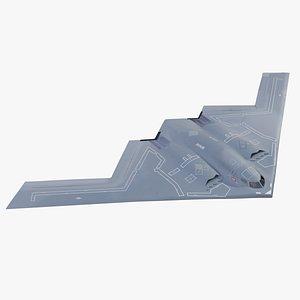 3D Northrop Grumman B-2 model