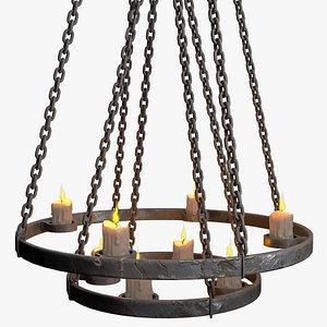 3D chandelier low-poly model