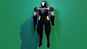 mecha ninja 3D model