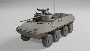 3D BTR 90 low poly model