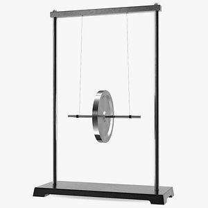 3D model Rolling Pendulum Maxwell Wheel