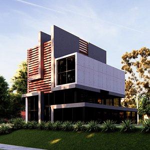 modern building 16-2 3D model