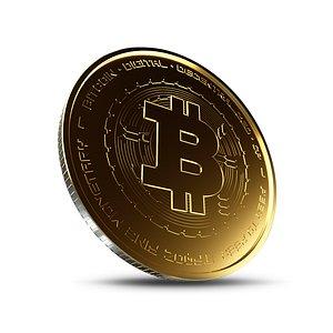 3D bitcoin coin crypto model
