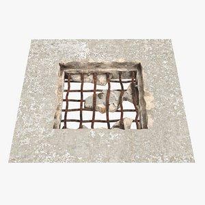 Concrete Hole 3D model