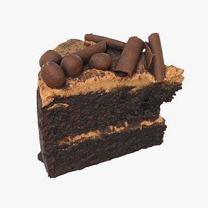 chocolate caramel cake 3D model