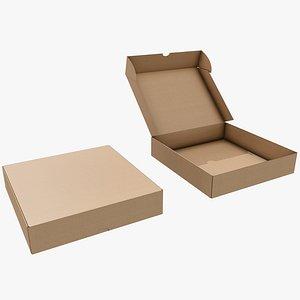 3D Cardboard Box 8 with Pbr 4K 8K