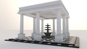 pergola column 3D model