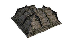 10 Model Pyramid Temple Wall 02 01-10 3D
