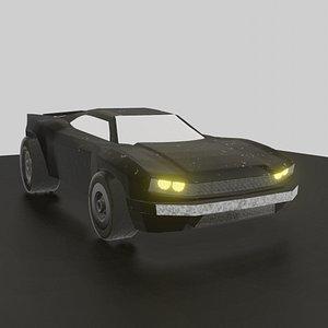 3D batmobile - THE BATMAN 2022