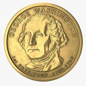 3D coin dollar pbr
