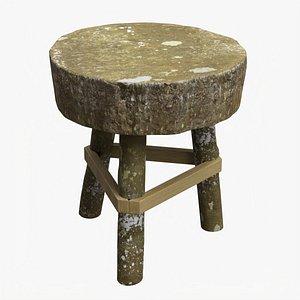 3D model Rough garden wooden table