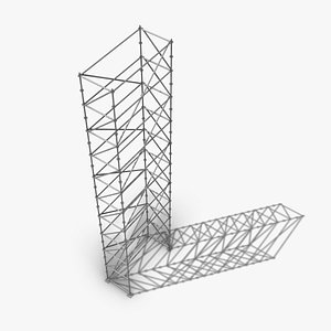 3D Scaffold Tall Tower - Layher Multidirectional Scaffolding
