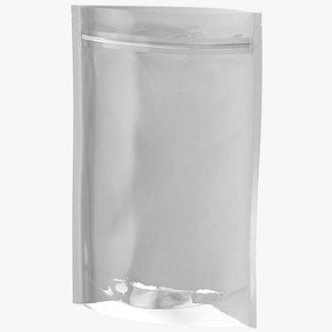 Zipper White Paper Bag with Transparent Front 200 g Open Mockup 3D model