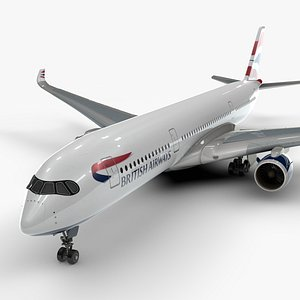 a350-900 airlines 3D