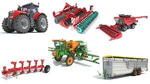 agricultural tractor farm 3D