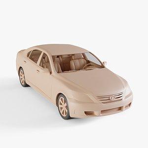 3D 2010 Lexus LS 600h model