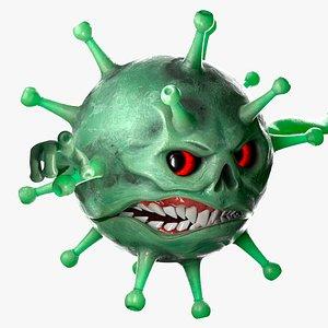 corona virus 3D