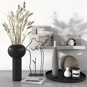 3D vase candlestick clock