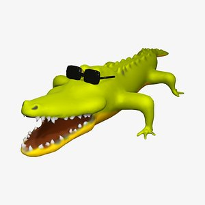 3D crocodile cartoon character