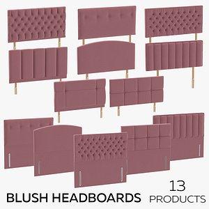 3D Blush Headboards model