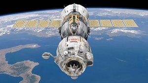 3D model russian soyuz spacecraft