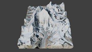 3D Everest Mountain model