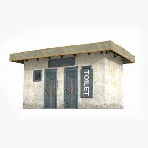 3D Poor toilets in modern buildings