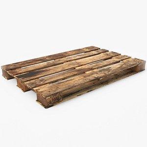 wood pallet pbr - 3D model