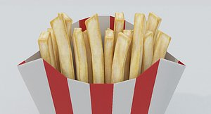 French Fries Low Poly 3D model