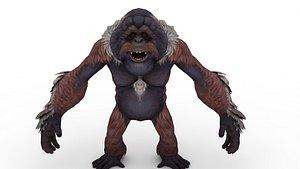 King Kong Action Figure Skull Toy Island model