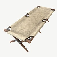 American Army Folding Bed-WWIILow-poly