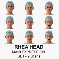 Rhea Clean Scans Main Expression Set - 9 poses Collection