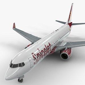 3D boeing 737-8 spicejet l1321