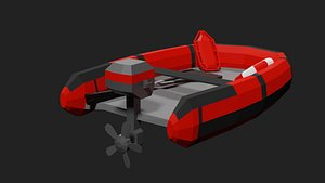 3D lifeboat boat model