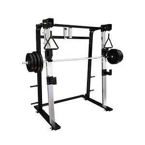 3D half rack squats model