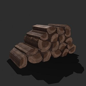 3D Wood Stack Pieces