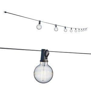 street garland edison lamps 3D model