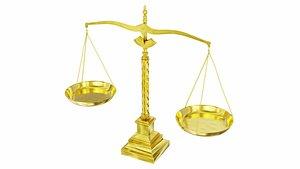 Golden scales 3D model