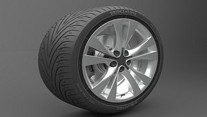 Realistic Tire Wheel 10 model