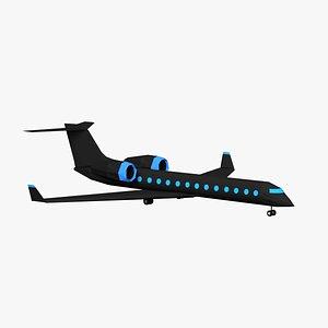 cartoon airplane toon model
