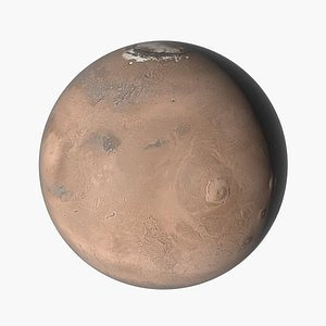 realistic planet mars 3D