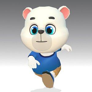 3D polar bear animations rig