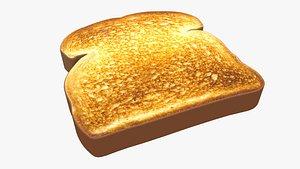 3D model bread food toast