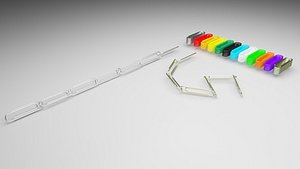 Paper Clips Set model