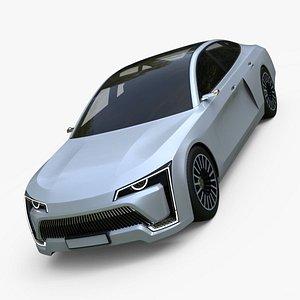 3D Generic Future Concept Sedan