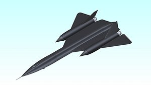 SR-71 Recon Aircraft Solid Assembly 3D model