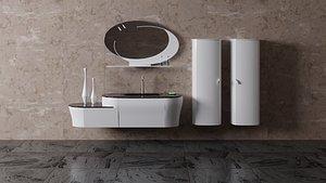 3D bathroom set