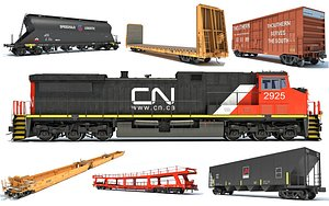 canadian national train 3D model